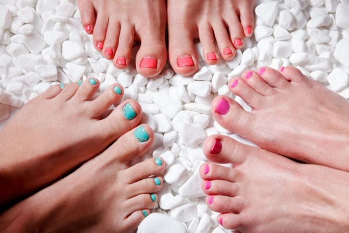 pedicures de colores
